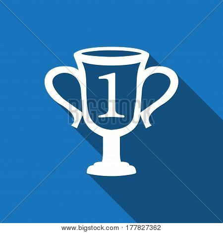 champions cup icon stock vector illustration flat design