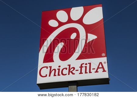 Indianapolis - Circa March 2017: Chick-fil-A Retail Fast Food Location. Chick-fil-A Restaurants are Closed on Sundays VII