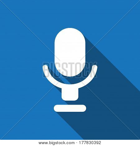 Microphone icon stock vector illustration flat design