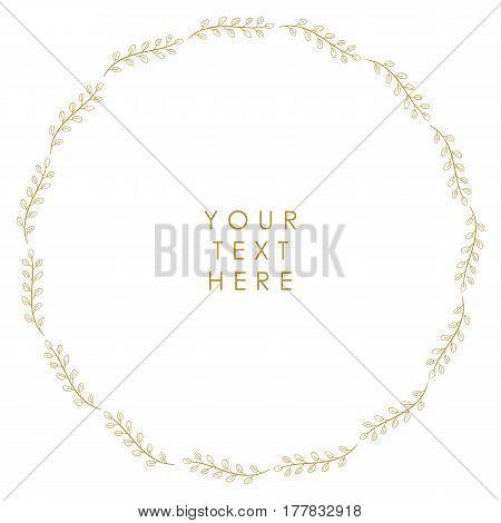 Vector floral vintage frame on a white background.