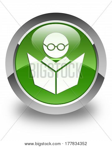 Elearning Icon Glossy Soft Green Round Button