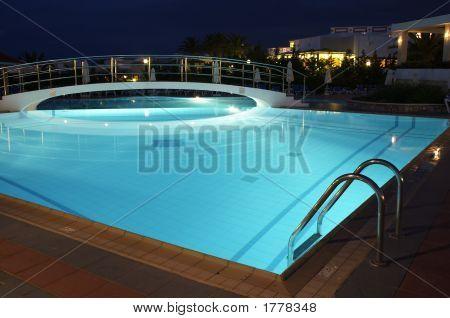 Night Swimming Pool