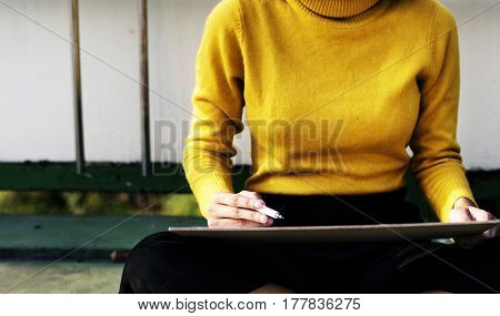 Hand Holding Pen Paper Writing Board