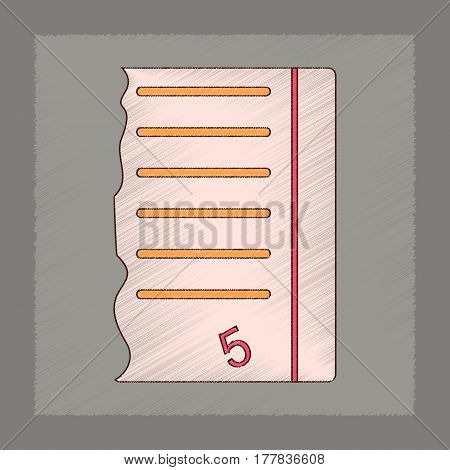 flat shading style icon of exam score excellent