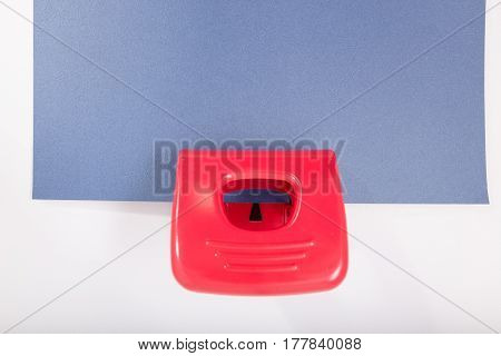 Punch Hole On A White Background. Isolate
