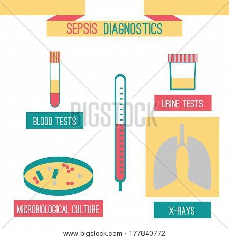 Sepsis Diagnostics Infographics Template