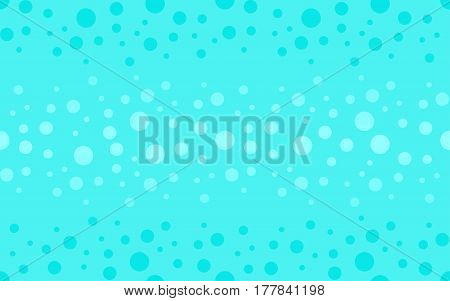 Seamless abstract background. Geometric vector blue bubble skin flake pattern. Vector illustration