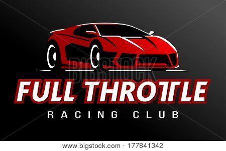 Full Throttle racing Super car logo vector illustration