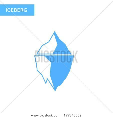 Ice berg icon. Iceberg logo Vector illustration