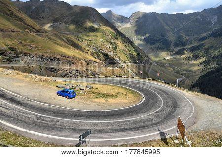 Romania Mountain Road