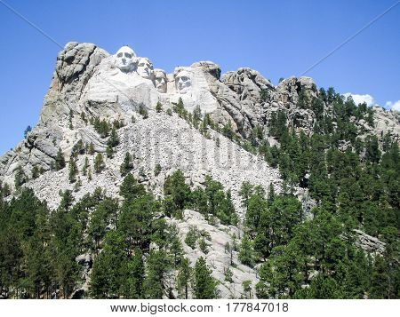 The four faces of Mount Rushmore monument