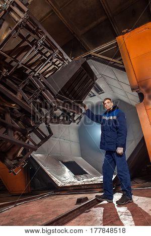 Molding Plastics In The Huge Factory Oven. Hi-tech. Reliable Equipment European Manufacturer.