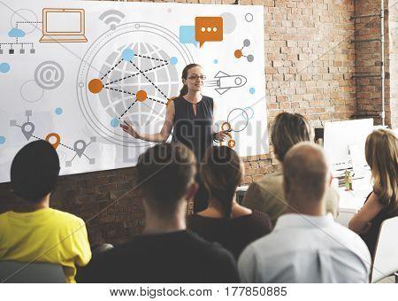Social Media Connection Speech Bubble
