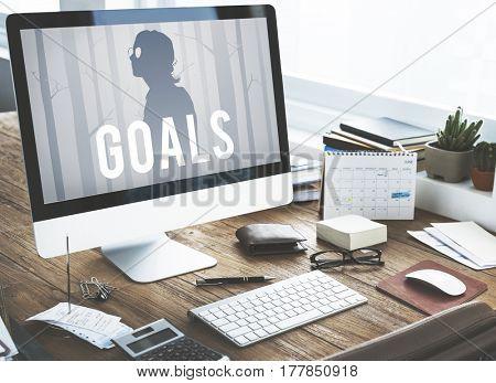 Goals Aspiration Aim Target Motivation Vision