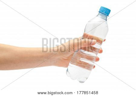 Hand Of Young Girl Holding Water Bottle