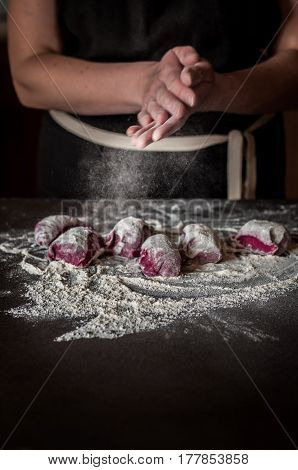 Working With Beet Pasta Dough