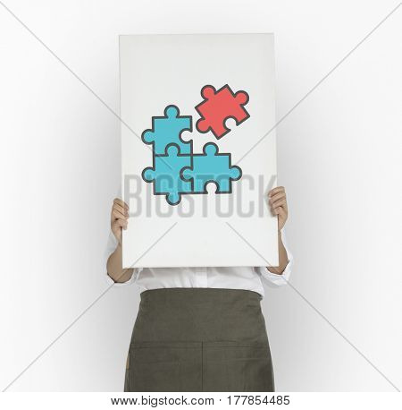 Jigsaw Puzzle Cooperation Partnerhip Together Graphic