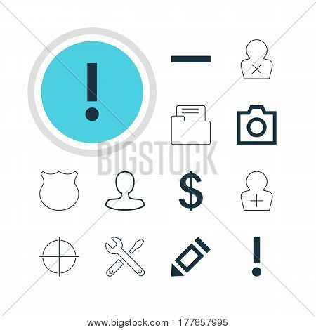 Vector Illustration Of 12 Interface Icons. Editable Pack Of Pen, Man Member, Money Making And Other Elements.