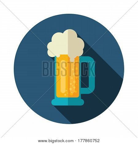 Beer Mug vector icon. Beach. Summer. Summertime. Holiday. Vacation eps 10