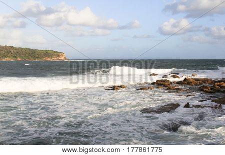 australia pacific coastline near Sydney entrance to Botany bay view on Bare island with navi citadel