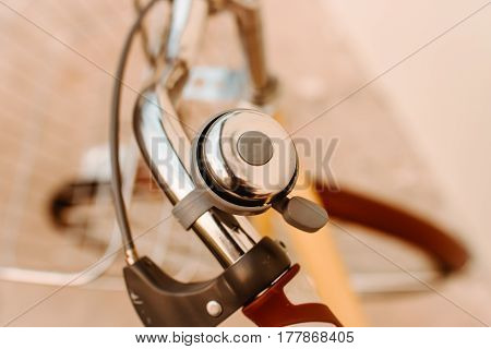 bicycle yellow color classic  vintage old A Bell