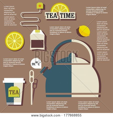 Tea-time Infographic On Flat Design