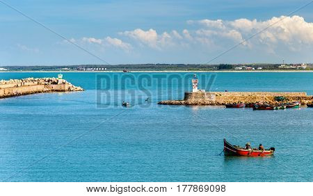 View of Port of El Jadida in Morocco