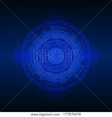 Technical abstract vector illustration. Colorful image with futuristic theme.