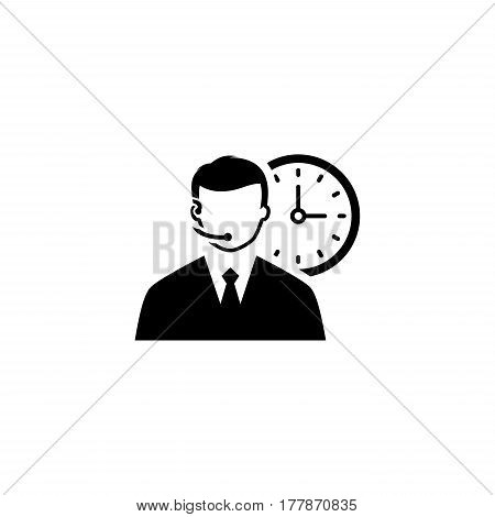 Call Center Icon. Flat Design. Business Concept. Isolated Illustration