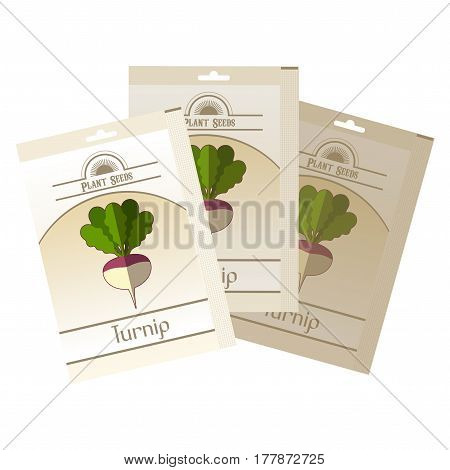 Vector image of the Pack of Turnip seeds icon