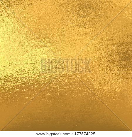 Gold metal foil, yellow shiny texture background