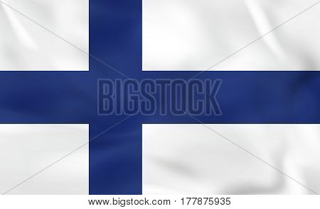 Finland Waving Flag. Finland National Flag Background Texture.
