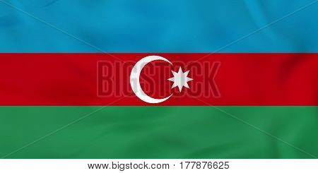 Azerbaijan Waving Flag. Azerbaijan National Flag Background Texture.