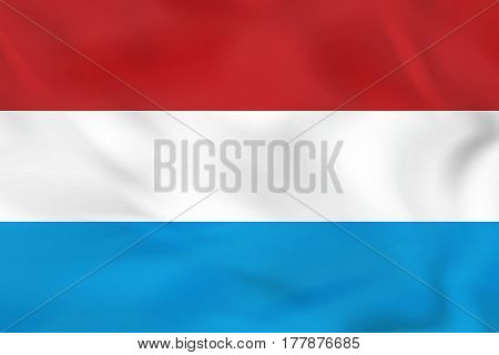 Luxembourg Waving Flag. Luxembourg National Flag Background Texture.
