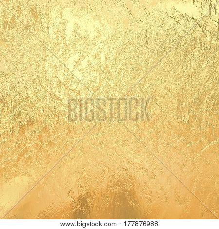 Gold metallic foil, golden yellow texture background