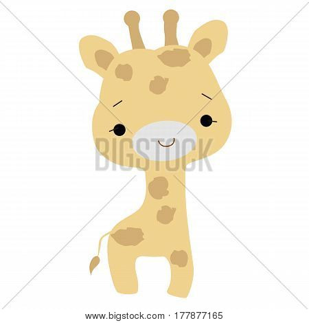 color baby icon baby giraffe in cartoon style. vector illustration. baby shower or arrival