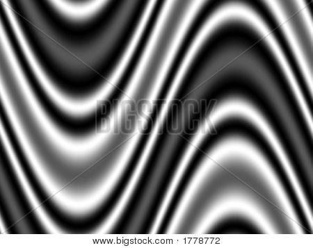 Op Art Moving Waves One Black