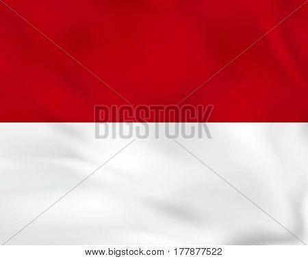 Monaco Waving Flag. Monaco National Flag Background Texture.