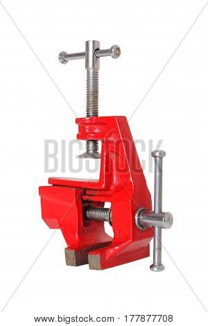 The metalwork tool - on a white background. It is isolated the worker of paths is present.