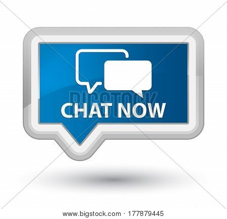 Chat Now Prime Blue Banner Button
