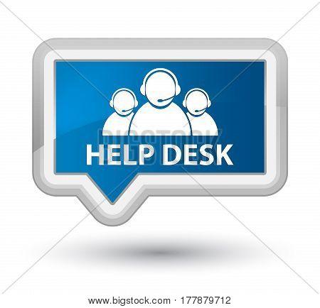 Help Desk (customer Care Team Icon) Prime Blue Banner Button