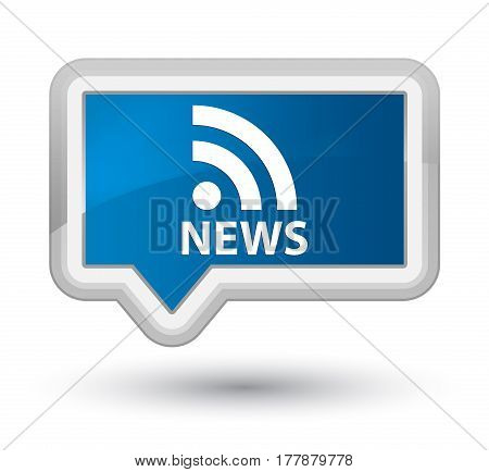 News (rss Icon) Prime Blue Banner Button