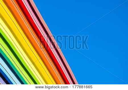 Decorative Elements Of The Rainbow And The Blue Sky