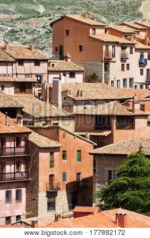 View of Albarracin village in Teruel, Aragon, Spain.