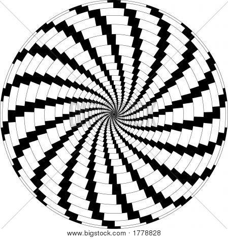 Op Art Rotating Windmills Black And White