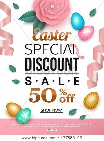Easter sale banner vector illustration eps 10 format