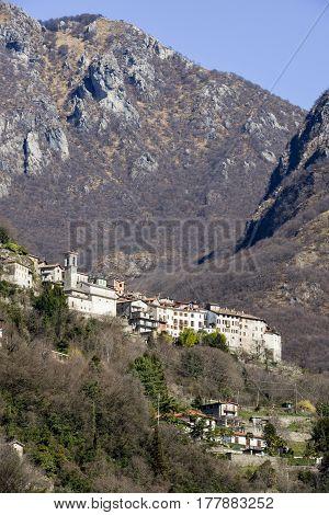 San Mamete Village In The Municipality Of Valsolda