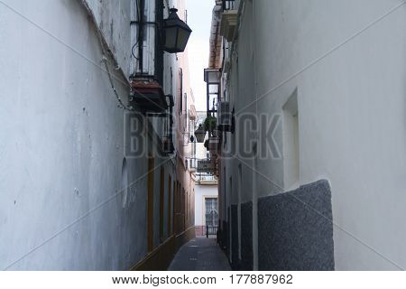 very narrow streets in the old town