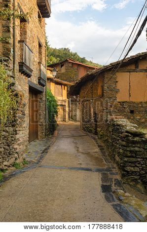Street of Robledillo de Gata Cáceres Extremadura Spain