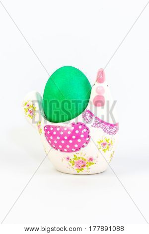 Easter Decoration With A Green Egg